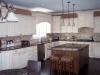 Painted Kitchen With Glaze Dark Maple Island