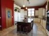 Painted Kitchen With Glaze Cherry Island